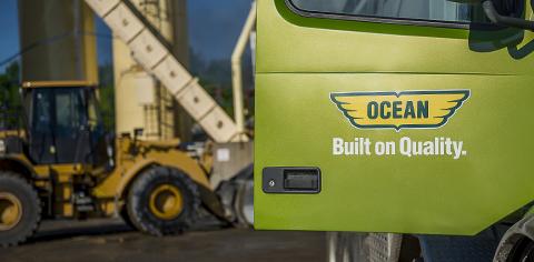 Ocean logo on truck door