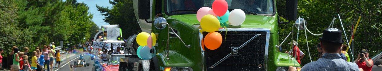 Ocean truck in a parade