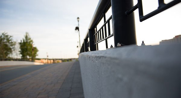 Dartmouth crossing with ornamental railings