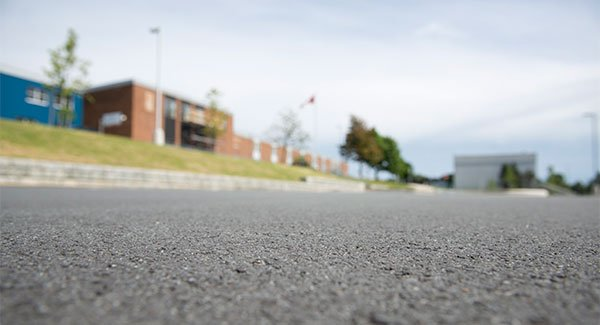Prince Andrew High School, close up parking lot