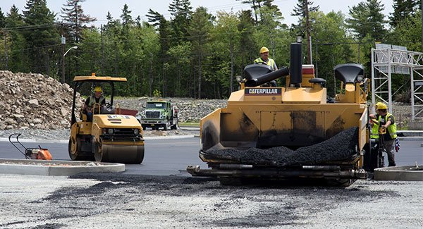 Ocean trucks paving Larry Uteck