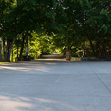 Point Pleasant Park Walkway by Ocean